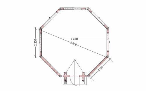Сруб восьмиугольный своими руками